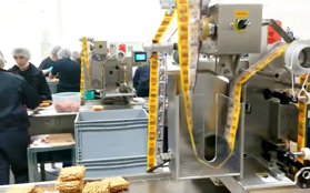 pouch dispenser machine in customer instant noodles factory